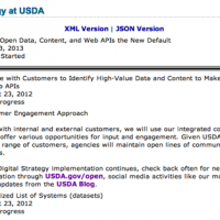 Which APIs & Mobile Websites Should USDA Launch by 2013?
