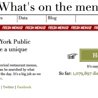NYPL Digitizes Restaurant Menu Archive, turns it into Open Data API