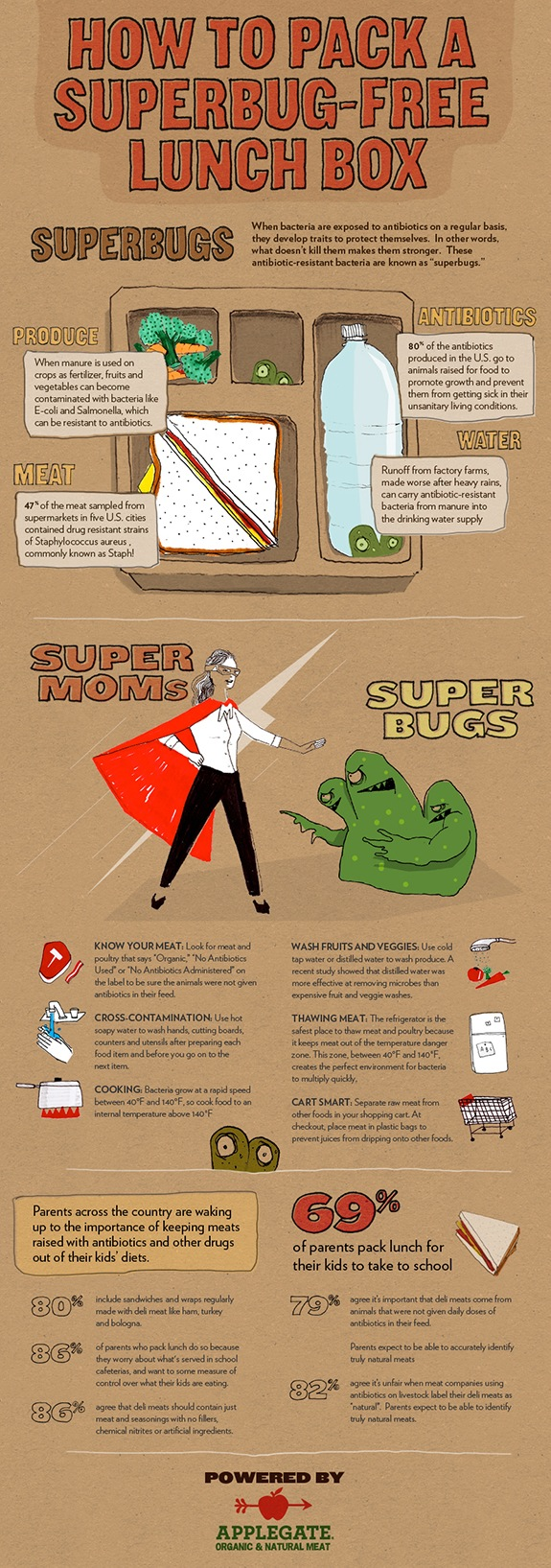 Applegate Super Moms vs. Super Bugs Infographic