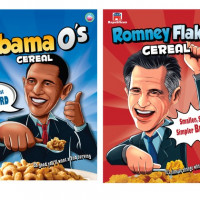 Breakfast with Obama and Romney, Courtesy of Cerealize