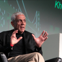 Vinod Khosla Discusses Investments in Food: Faux Meat, Dairy-Free Cheese & More