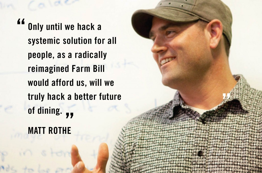 Future of Dining: Why We Need to Hack the Farm Bill Matt Rothe