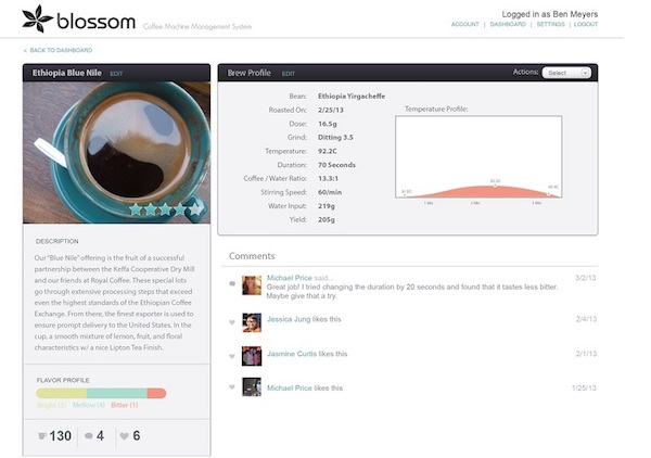 Blossom Coffee Recipes & Connected Brewing