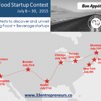 Pitch at 33Entrepreneurs' Food Startup Accelerator Tour, Coming to a City Near You