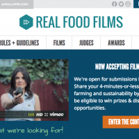 Submit Your Short Film To Third Annual Real Food Films Contest