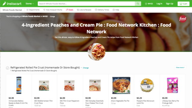 Food Network & Instacart Launch Meal Kit Delivery