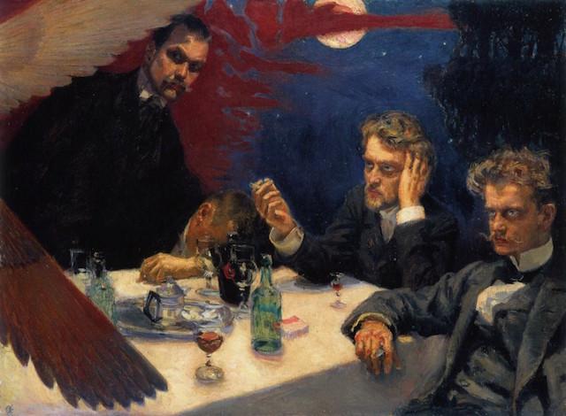 Apathy. (Symposium, by Akseli Gallen-Kallela. 1894