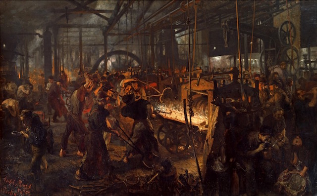 Consolidation. (The Forge [Modern Cyclops], by Adolph von Menzel. 1875)