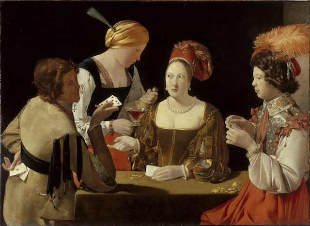 False Truths. (The Cheat with the Ace of Clubs, by Georges de La Tour. c. late 1620s)